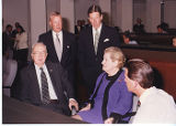 Madeleine Albright with Senator Helms
